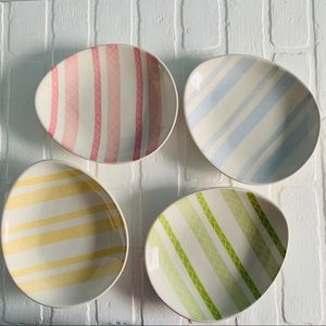 """Pottery Barn Easter Eggs Shaped Plate Set of 4, 8"""""""